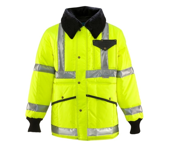 HiVis ANSI Class 3 Iron-Tuff Jackoat with Reflective 3M Tape