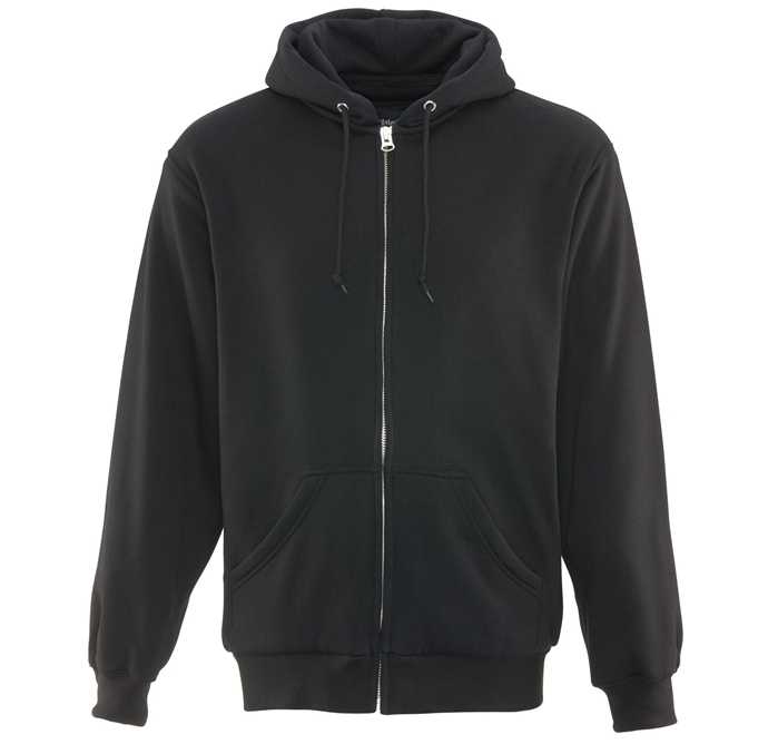 Thermal Black Hooded Sweatshirt