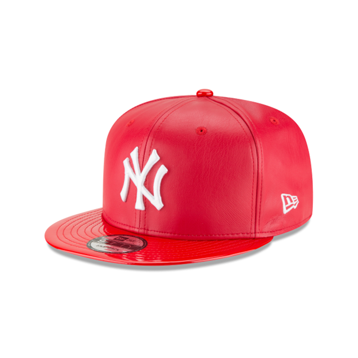 New Era  9FIFTY New York Yankees Scarlet Synthetic Leather Hat