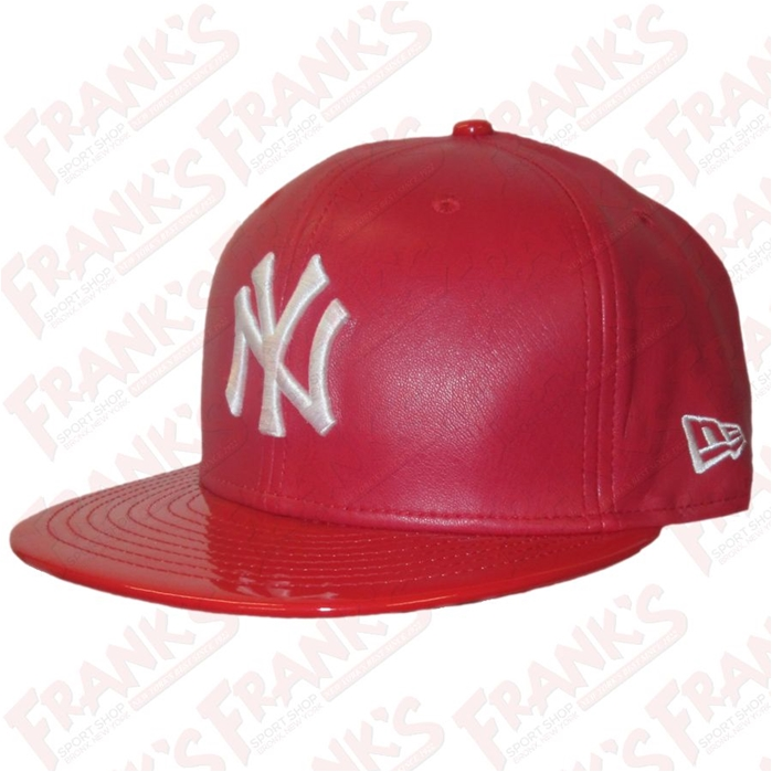 New Era New York Yankees Scarlet Synthetic Leather Hat