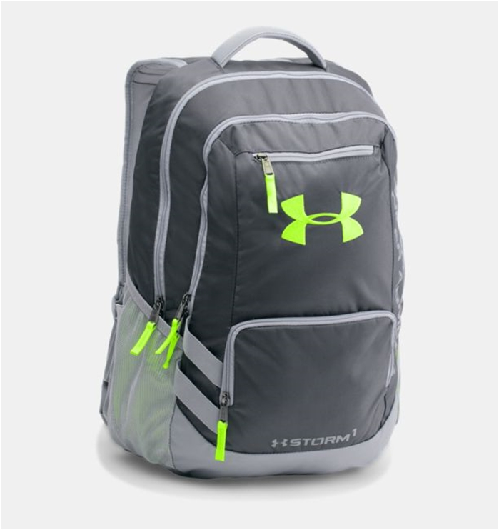 UA Storm Hustle II Stealth Gray Backpack