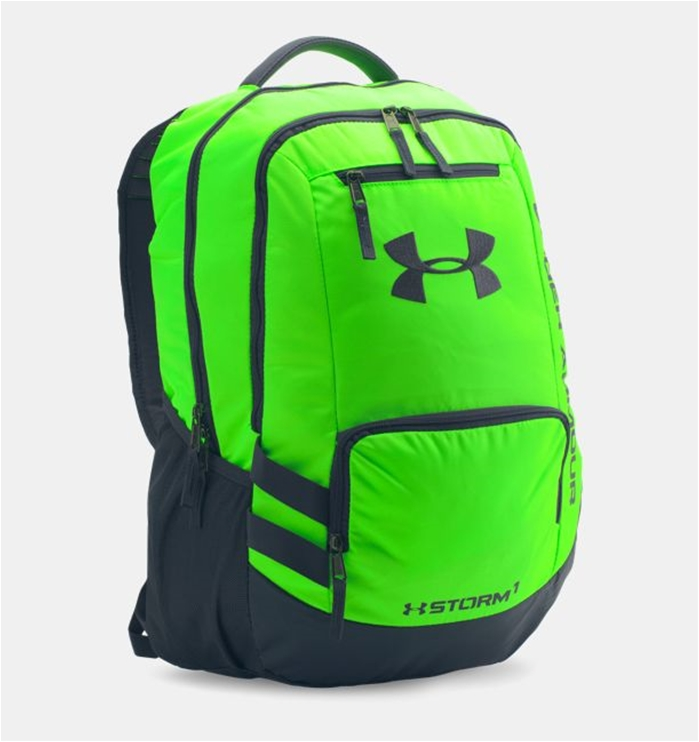 UA Storm Hustle II Hyper Green Backpack