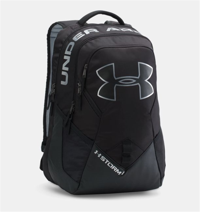 UA Storm Big Logo IV Black Backpack