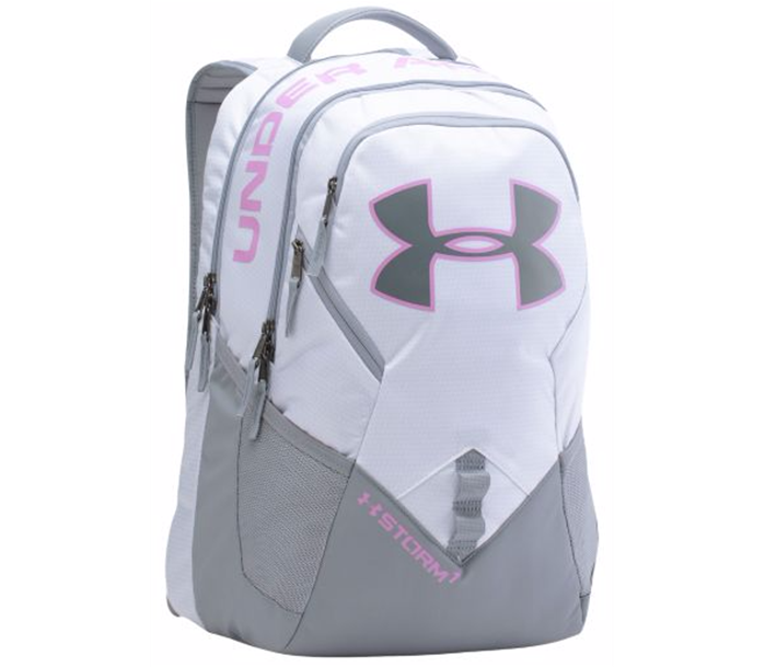 UA Storm Big Logo IV White Backpack