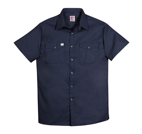 6 OZ TWILL Button Front Short Sleeve Work Shirt