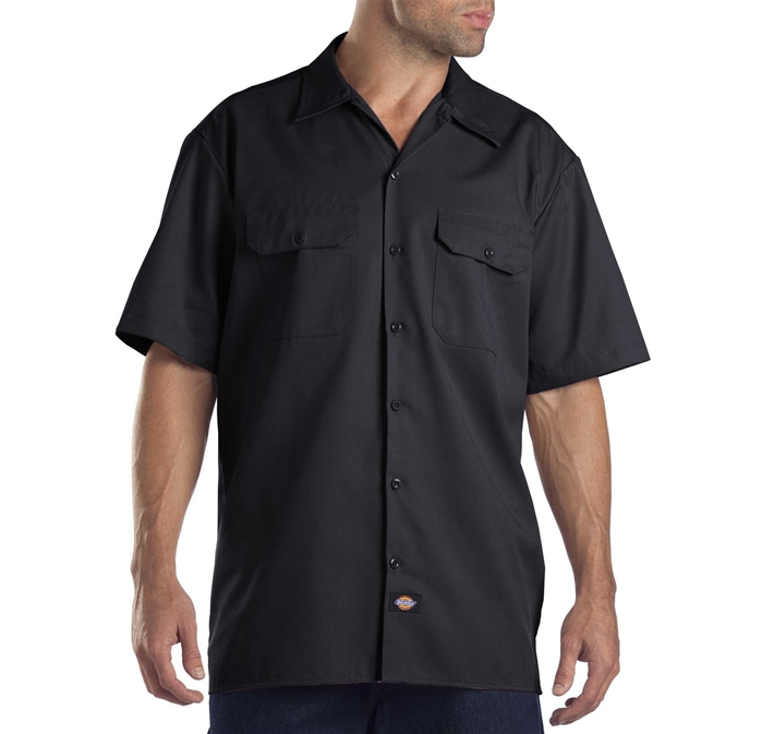 Dickies Short Sleeve Black Work Shirt