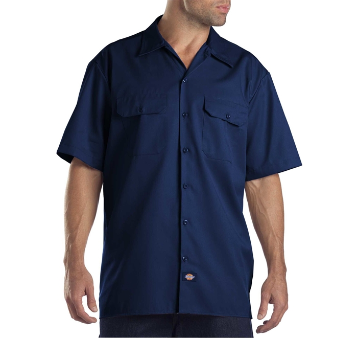 Dickies Short Sleeve Dark Navy Work Shirt