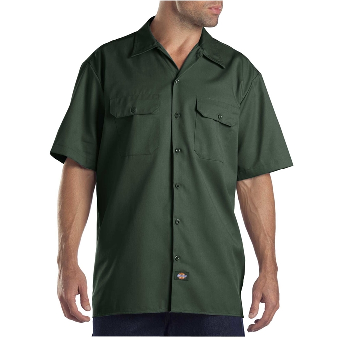 Dickies Short Sleeve Hunter Green Work Shirt