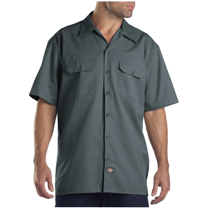 Dickies Short Sleeve Lincoln Green Work Shirt