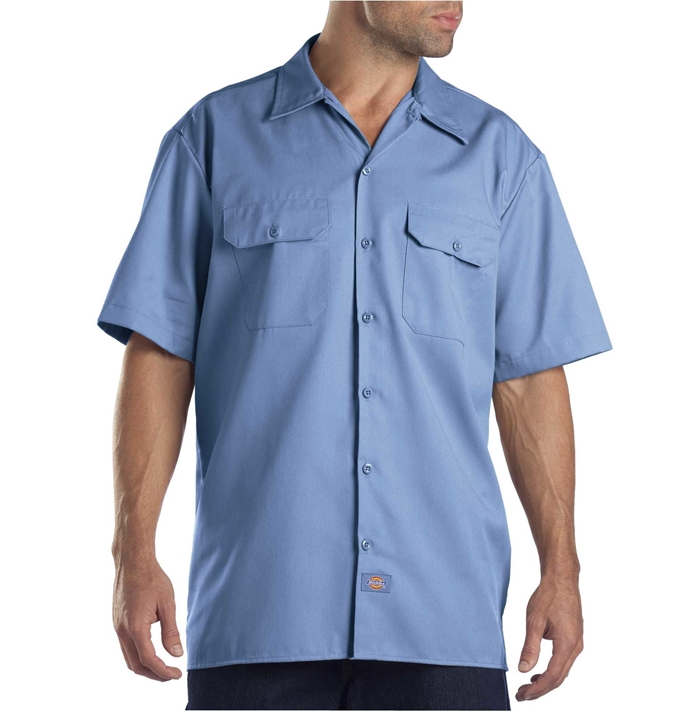 Dickies Short Sleeve Gulf Blue Work Shirt