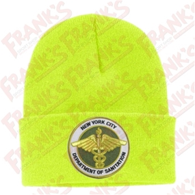 DSNY hivis yellow Sanitation Knit Hat