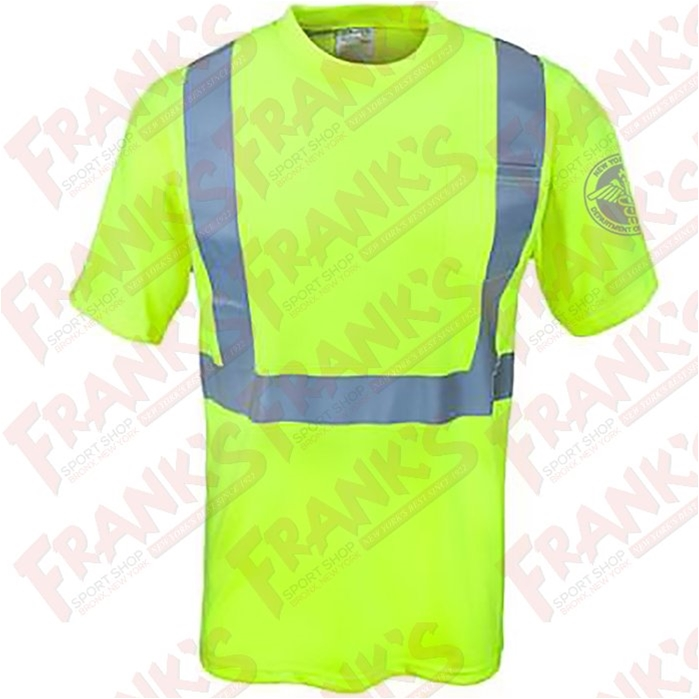 DSNY Sanitation Yellow High Visibility Work Short Sleeve Shirt