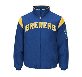 Majestic Authentic Milwaukee Brewers On-Field Premier Jacket