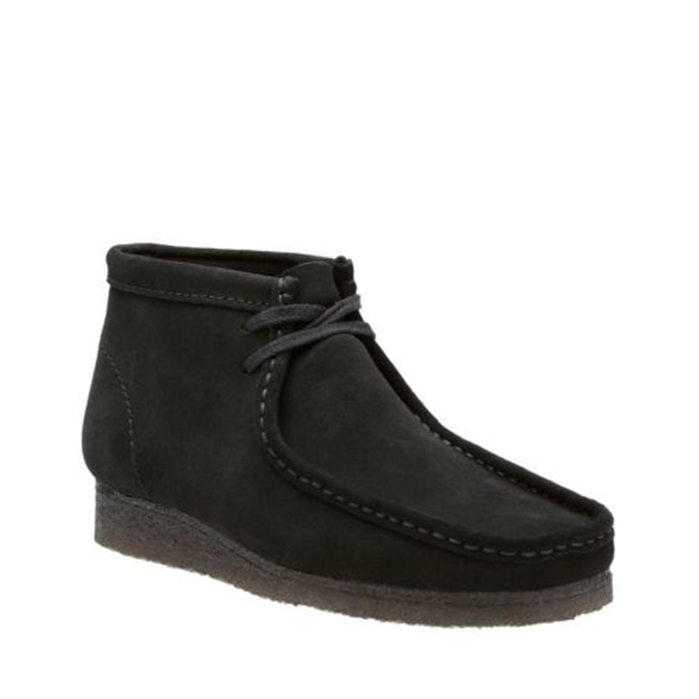 Clarks Original Black Suede Wallabee Boot