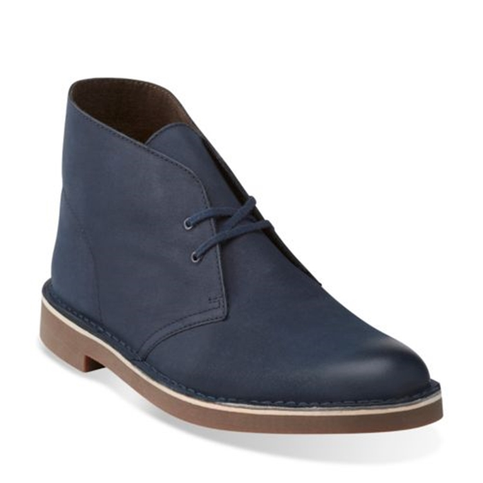 Clarks Bushacre 2 Navy Leather Shoes
