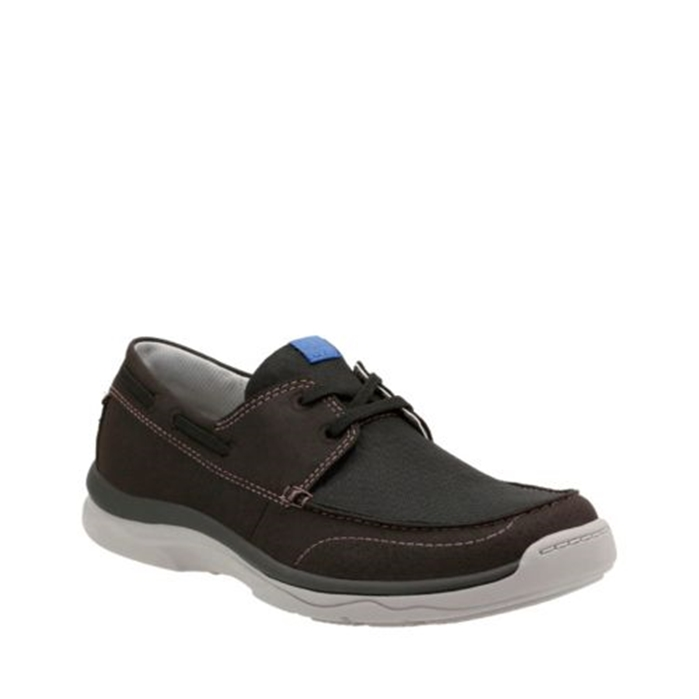 Clarks Marus Edge Black Shoes
