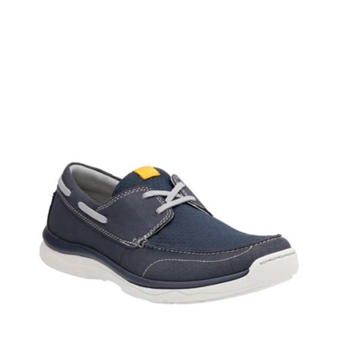 Clarks Marus Edge Marine Navy Shoes