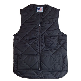 Quilted Nylon Vest with Kidney Flap