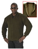 Olive Drab Reversible Zip Up Commando Sweater