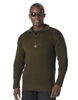 Olive Drab Zip Up Acrylic Commando Sweater