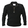 Black Zip Up Acrylic Commando Sweater