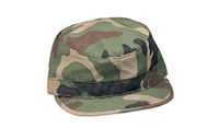 Ultra Force Woodland Camo Rip-Stop Fatigue Cap