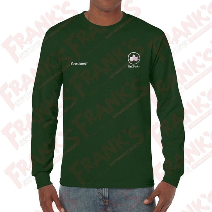 NYC Parks Gardener Heavy Cotton Long Sleeve Embroidered T-Shirt