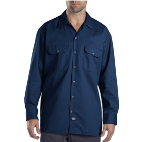 Dickies Long Sleeve Dark Navy Work Shirt