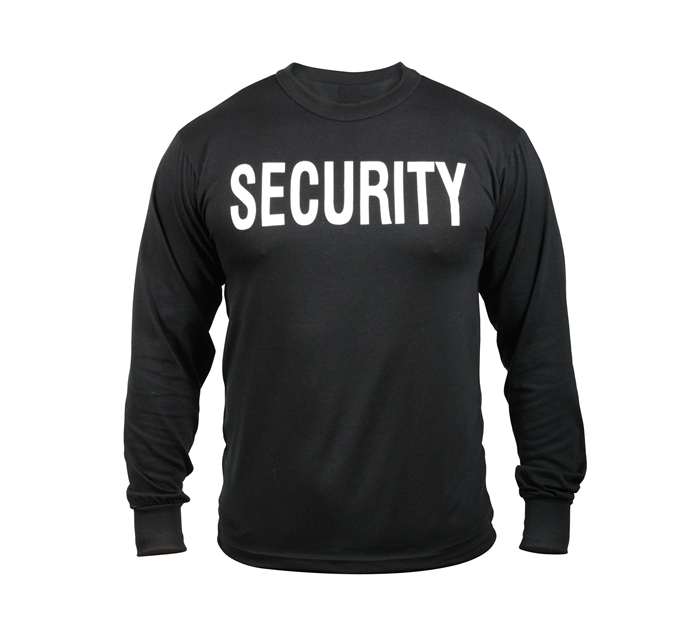 Rothco USA Made Security Double Sided Long Sleeve T-Shirt