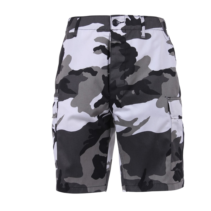 6 Pockets Colored City Camo BDU Shorts