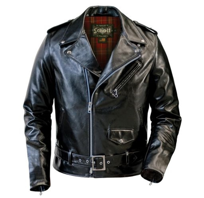 Schott Lightweight Fitted Cowhide Motorcycle Jacket