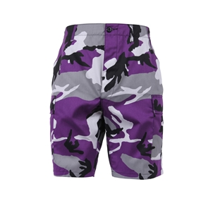 Rothco 6 Pockets Colored Ultra Violet Camo BDU Shorts