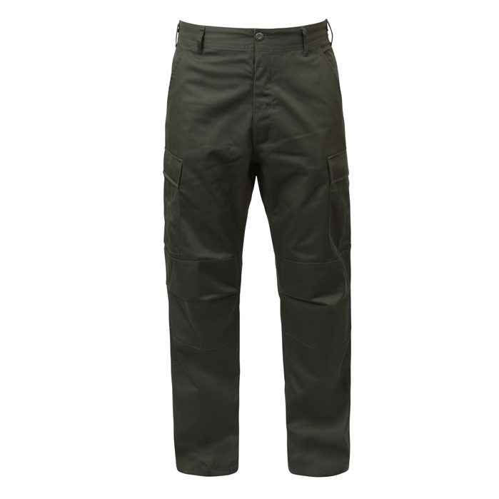 BDU Olive Green Adjustable Waist Cargo Pants
