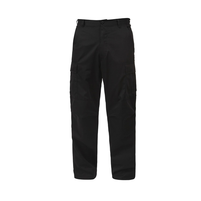 BDU Black Adjustable Waist Cargo Pants