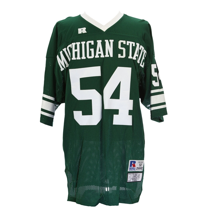 Carl Banks #54 Michigan State Collegiate Throwback Jersey
