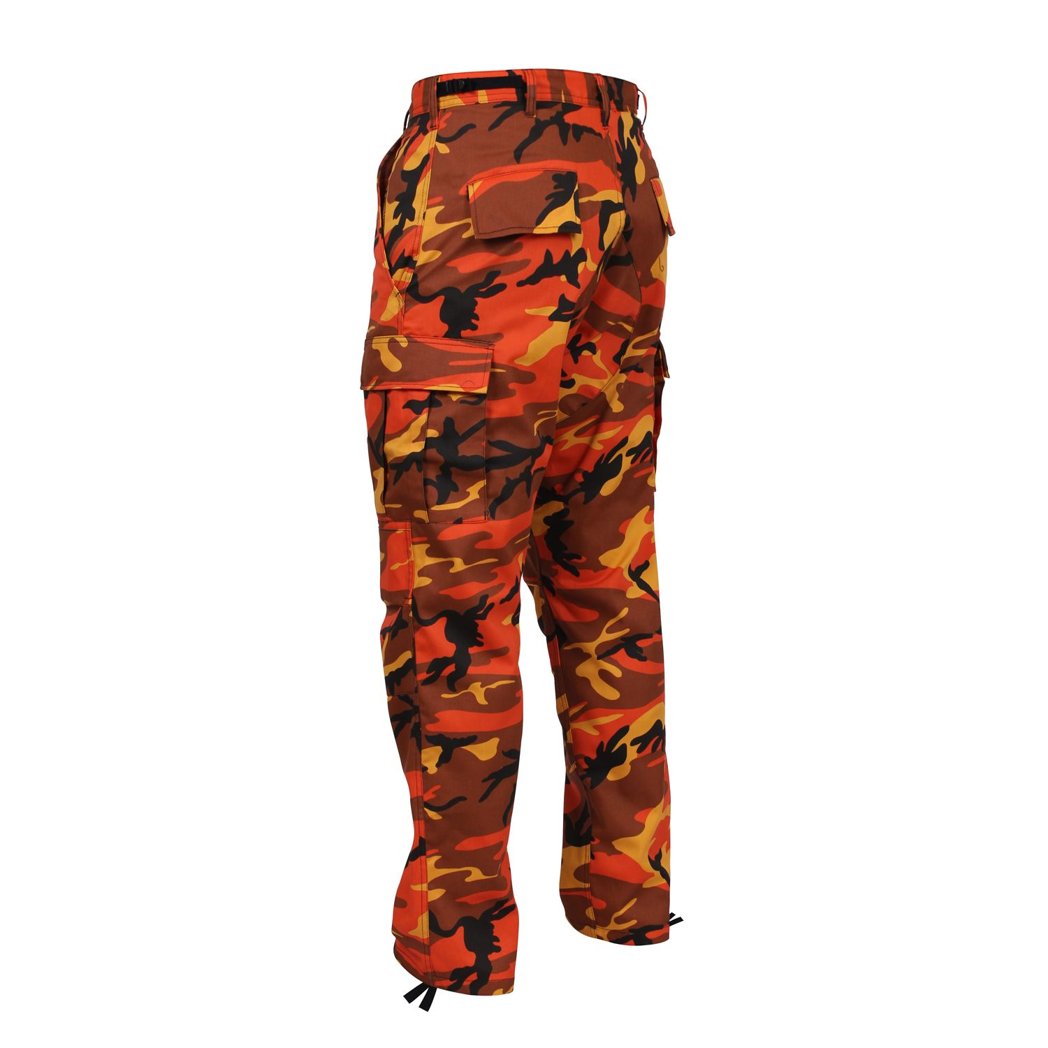Savage Orange Camo BDU Adjustable Waist Cargo Pant