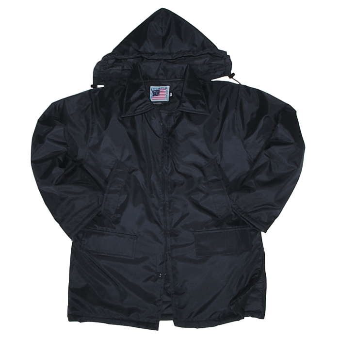 Nylon Parka with Zip-Off Hoody