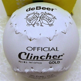 """1 Dozen Clincher F12 12"""" Double Header Leather Softball Ball"""