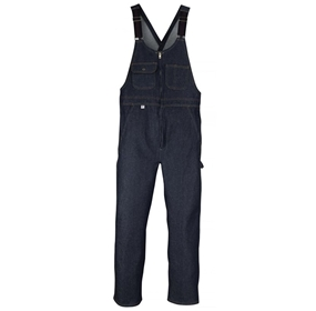 Zip-front Closure Denim Bib Overall