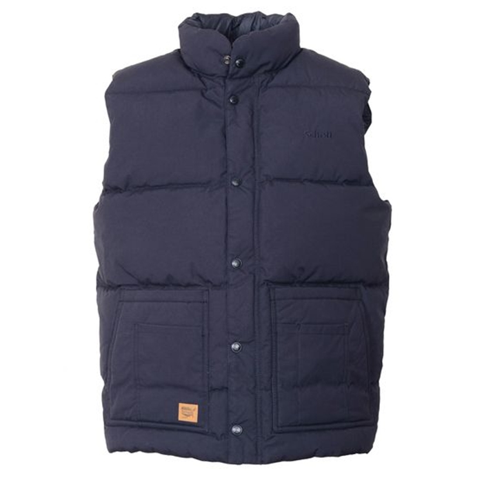 "Schott 27"" Down Filled Vest with Patch Pockets"