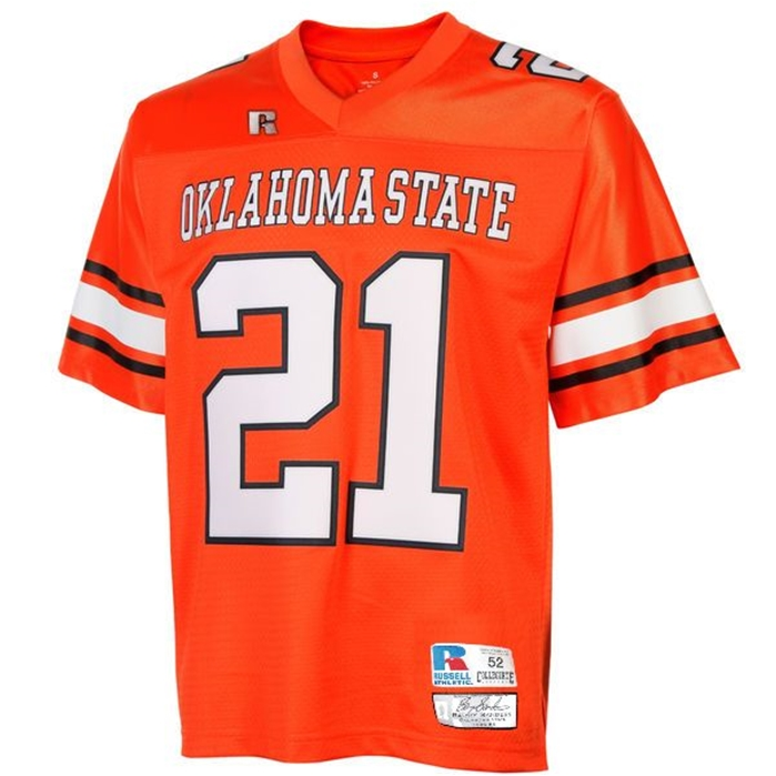Barry Sanders #21 Collegiate Oklahoma State Throwback Jersey