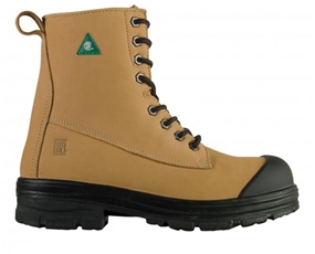 "8"" Safety Boots - Military Cut Tan Nubuck Leather Boots"