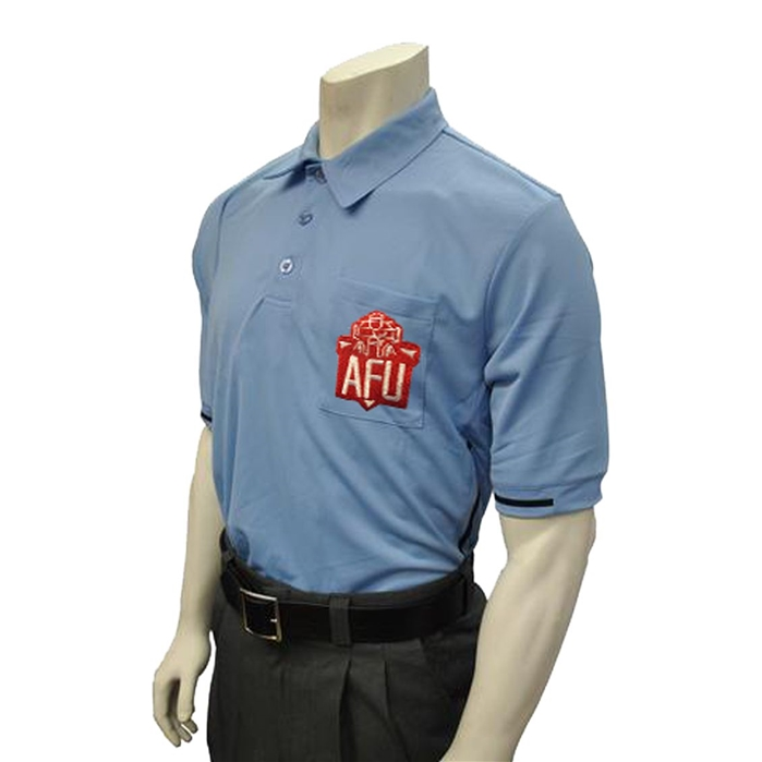 Smitty AFU official Columbia Blue umpire shirt