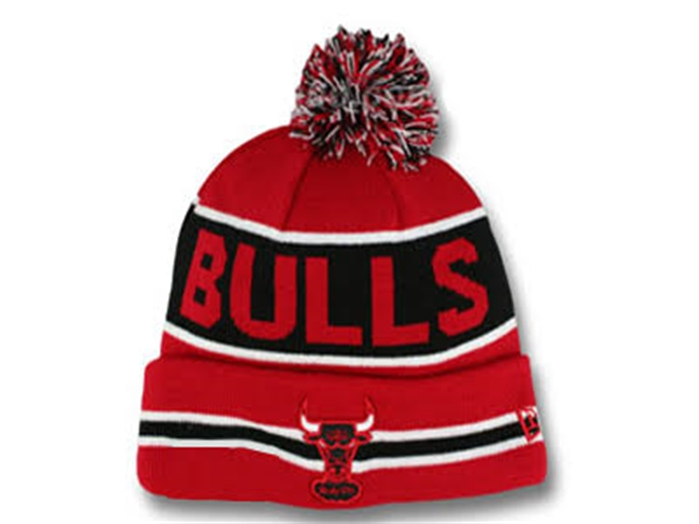 New Era Chicago Bulls Button Up Cuffed Knit Beanie