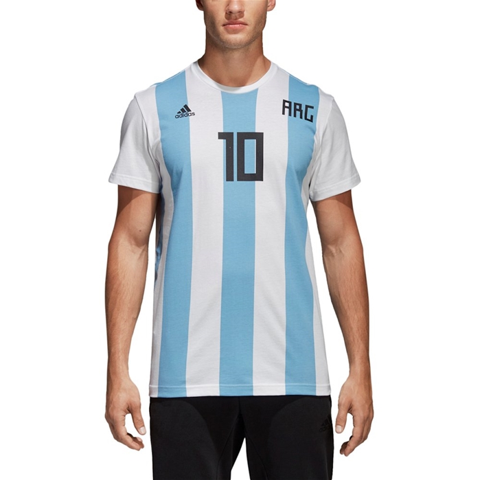 Adidas Lionel Messi Argentina National Team Replica Soccer Jersey