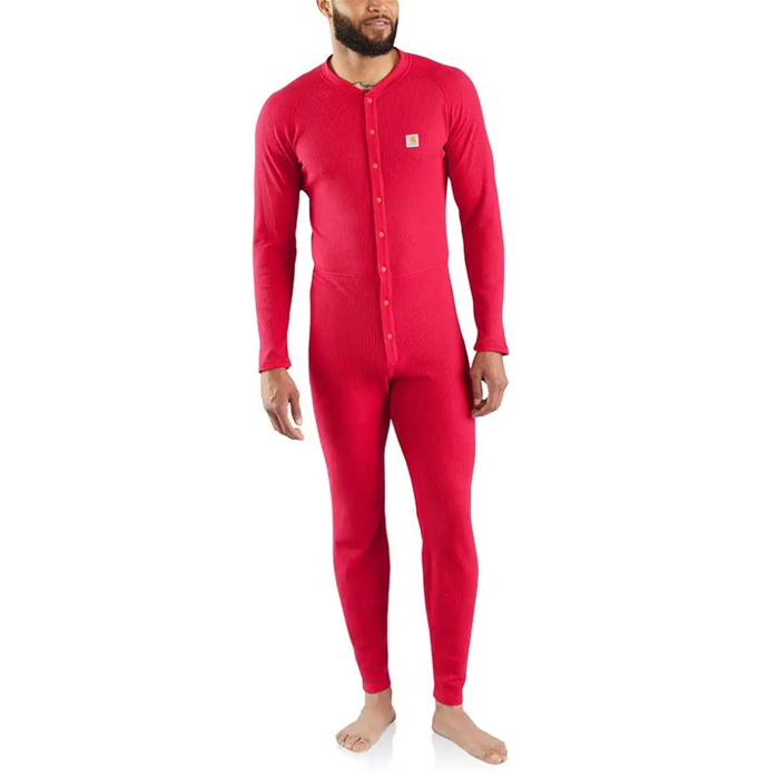 Carhartt Classic Cotton-Poly Midweight Thermal Knit Union Suit