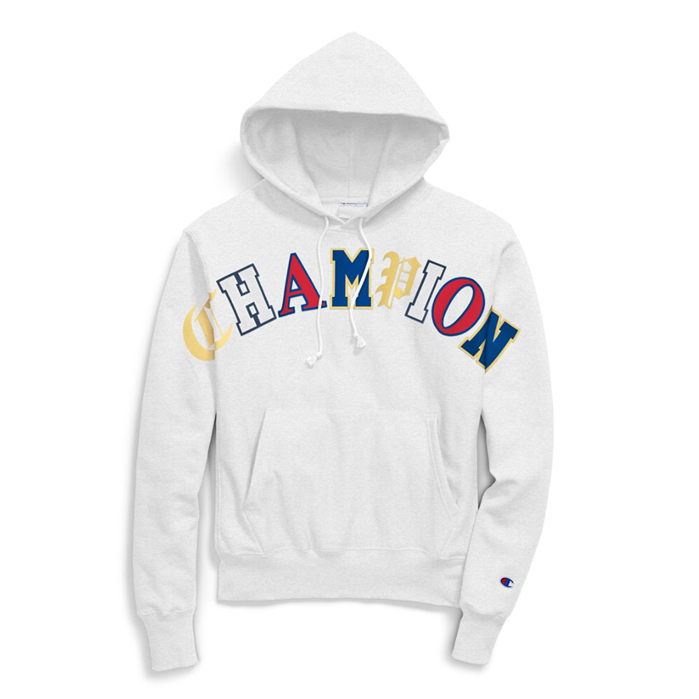 Champion Life Men's Reverse Weave Pullover Hoodie, Old English Lettering