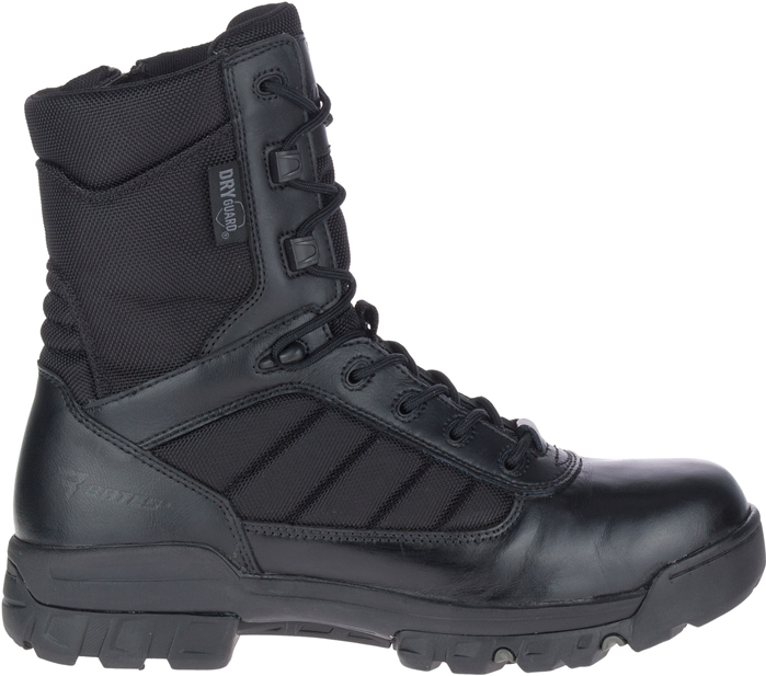 "Men's 8"" Tactical Sport Dryguard Side Zip Black"