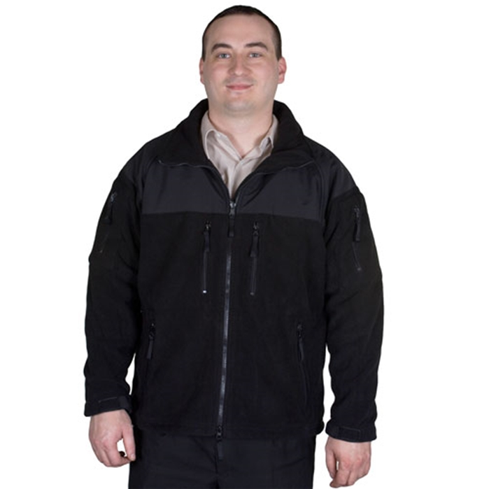 Enhanced Fleece Tactical Black Jacket