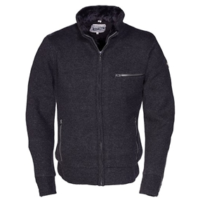 Schott Men's Cotton Fitted Cafe Sweater Jacket